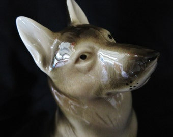 Vintage Royal Dux Porcelain German Shepard Dog Figurine