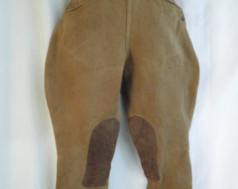 1930's Jodhpurs Vintage Woman's Pants Button Fly Side Button Small Equestrian