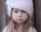 Crochet Hat Pattern: 'Vintage Twist', Fabric Flower, Winter Fashion, Baby to Women,