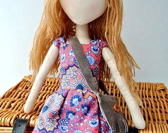 Handmade Fabric Doll Helena