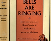Musical - Judy Holliday - Bells Are Ringing - Script - Hardback - Fireside Theater Book Club - Dust Jacket -