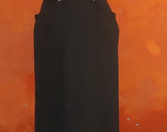 Vintage 1950s 1960s Wiggle Dress. Sz 4 Boned fitted Bodice Rizzo Grease style wiggle dress black Spaghetti strap strapless