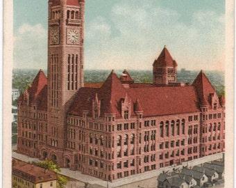 "Minnesota, Postcard, ""Court House and City Hall, Minneapolis, Minn,""  1900s,  .#171."
