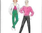 Leggings Pattern Stretch Stirrup Pants Zipper Pockets Retro 1980s Kwik Sew 1492 Size 6 - 12