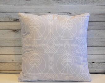 Aztec pillow cover - Tribal cushion - Gray throw pillow - Southwestern decor - Minimalist pillow - Decorative pillow -  20x20 cushion