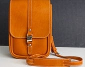 RESERVED for Elizabeth - Golden tan small bag, horween baseball leather, hand sewn in usa, jacobson leather