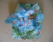XS Camp style Dog Shirt-Tropical print