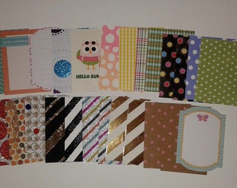 Pre-cut ATC size 2.5 x 3.5 Scrapbooking Variety Paper
