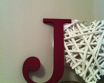 """Painted Wooden Letter - 'J' - Any Colour,  Roman Style - 18"""", Wall letter, various colours, other sizes"""