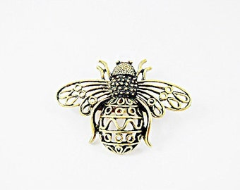 Bronze Brooch Pin,   Large Steampunk Bee,  Womens Gift  Handmade