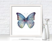 Blue Butterfly Painting, Butterfly Print, Original Butterfly Watercolor, Butterfly Greeting Cards, Butterfly Wall Decor, 43 Blue Celestina