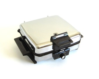 Toastmaster Waffle Iron Sandwich Grill 269 Chrome Nonstick Used