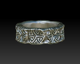 wedding ring celtic ring celtic band wedding band   R6S