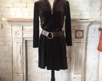 1980's Chocolate Sheath Dress