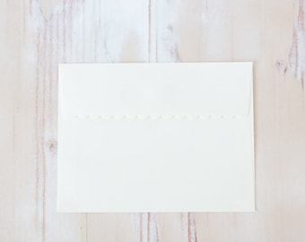 Ivory Envelopes with Scallop Flap Edge - A2 - Square Flap - 40 pc