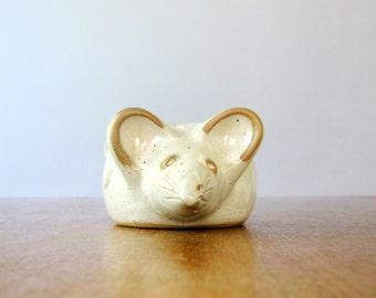 Vintage 70's David Stewart Lion's Valley Mouse Planter / Vase