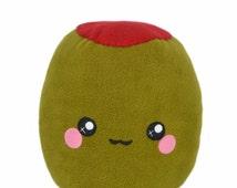 Green olive kawaii plushie / novelty vegetable pillow