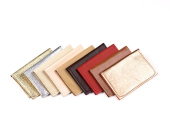 Leather Fold Wallet. Leather Card Case. Metallic Wallet. Leather Fold Wallet.