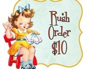 VIP RUSH ORDER, priority order, last minute gift, urgent purchase, upgrade for faster processing time, shipping speed chosen separately