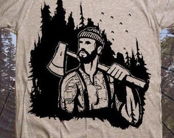 Men's Lumberjack T-Shirt / Mens TShirt / Size & Color Options