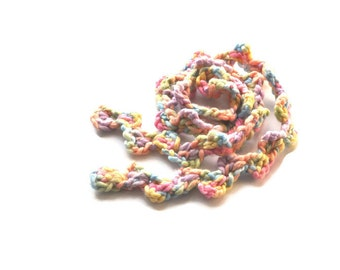 Crochet Scarf in Pastel Colors, Minimalist Scarf, Crochet Infinity Scarf,