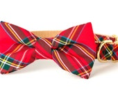 Crew LaLa™ Scottish Tartan Bow Tie Dog Collar