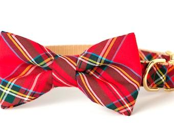 Crew LaLa™ Scottish Tartan Bow Tie Dog Collar