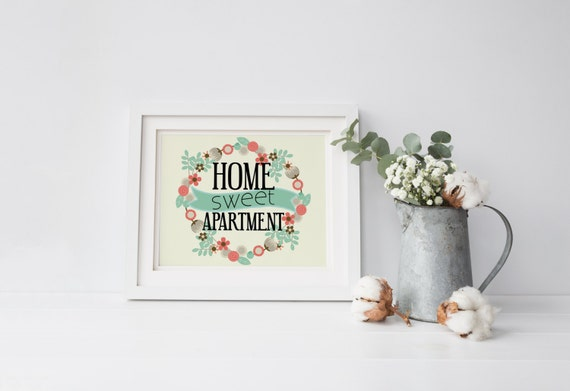 Home Sweet Apartment Family Room Home Decor Funny Home Art
