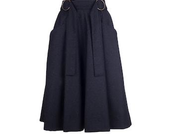 Wool skirt MARLA, midi skirt, wool skirt, handmade fashion - made to order S-XXL