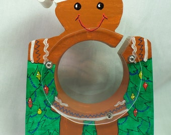 Gingerbread girl wooden bank - personalized free