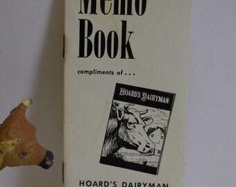Vintage Hoard's Dairyman Memo Book Dairy farm magazine Fort Atkinson Wisconsin 1960's