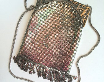 Whiting and Davis Flapper Purse Silver Mesh Shoulder Bag