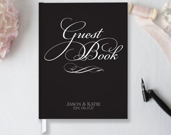 Wedding Guest Book Wedding Guestbook Custom Guest Book Personalized Wedding Guest Book Custom Guestbook Art Deco Classic Guest Book GB105