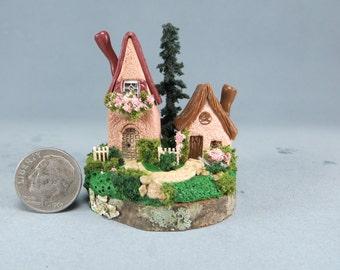 2 Miniature Fairy Houses OOAK by O'Dare