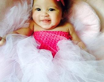 Newborn Girls Tutu Dress and Headband Set - You Choose Colors - Photo Prop Fluffy
