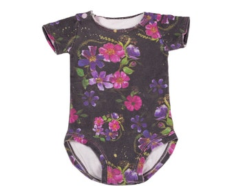 Floral Baby Onesie , Floral Onsie , Organic Baby Onesie , Organic Baby Clothes , Baby Girl Clothes , Newborn Clothes, Gift for New Baby