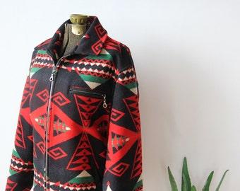 Pendleton Blanket Wool Coat.  Size Small