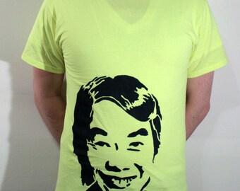 Shigeru Miyamoto ICON T-Shirt - Neon Yellow, Size M