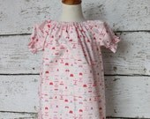 Valentine's Day - Peasant Dress Ready to ship size 4