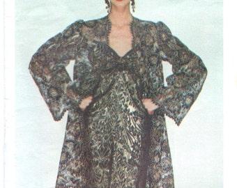 Yves Saint Laurent couture lace jacket & evening gown pattern -- Vogue Paris Original 2183