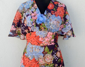 Vintage 70s boho floral maxi dress