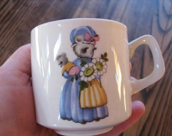 Vintage Mother Mouse ABC Children's Cup  Porcelain by Woods of England
