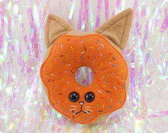 Cat Doughnut with Sprinkles Plush - Orange