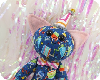 Birthday Party Cat Plush