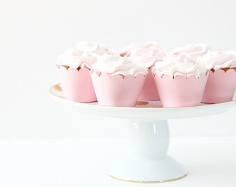 Light Pink Cupcake Wrappers Baby Pink Party Supplies Cupcake Liners Girl Baby Shower Girls 1st Birthday Party Easter Cupcake Wrappers