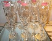 ZAWIERCIE Handcut Lead Crystal POLAND Champagne FLUTES