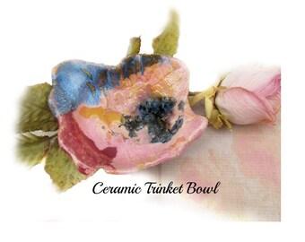 pottery dish - Small Bowl, trinket dish, Ceramic Bowl,   jewelry dish,   #15