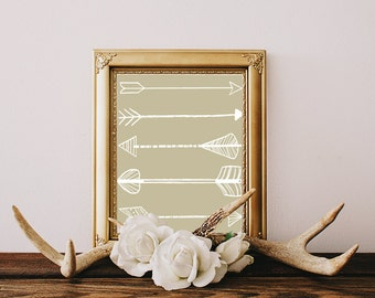 neutral office decor. white arrows digital print home decor art office wall contemporary tribal graphic neutral