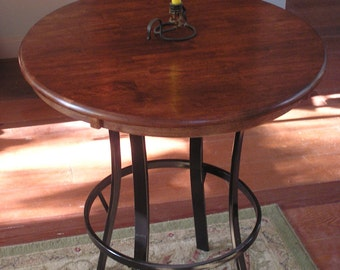 Rustic Industrial Custom Pub Table