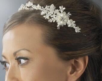 Bridal headband, Wedding headband, Swarovski Crystal, Headband, HairVine, Bride, Wedding, Hair Accessories, Hairpiece, pearl headban